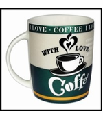 I Love Coffee 8 Ounce Ceramic Coffee Mug (Assorted)