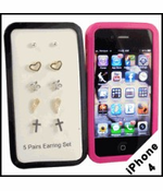 iPhone 4 Case with Earring Set