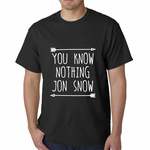 (White Print) You Know Nothing Jon Snow T-shirt