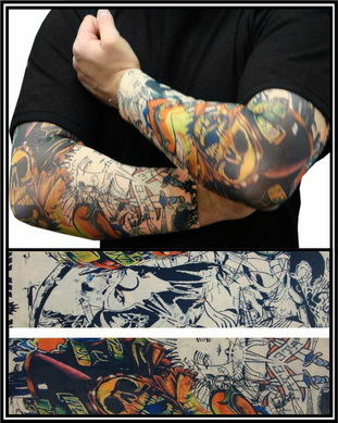Tattoo Sleeves - Sailor and Pirate Temporary Tattoo Sleeves (Pair)