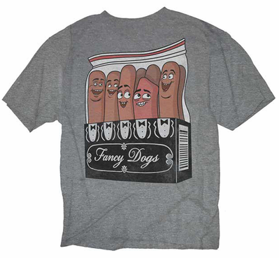 Official Sausage Party Fancy Dogs Packaging Men's T-shirt