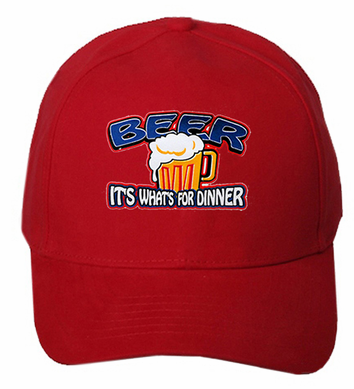 Beer It S What S For Dinner Baseball Hat