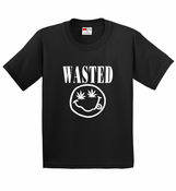 Nirvana Wasted Pot Leaf Smiley Face Men's T-Shirt