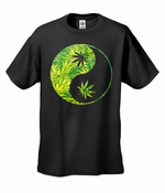 Pot Leaf Ying Yang Men's T-Shirt
