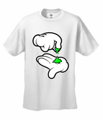Mickey Hands Weed Men's T-Shirt