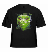 Pot Head & Stoner Tees - Take Me To Your Dealer Alien T-Shirt