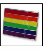 Rainbow Pride Belt Buckle With FREE Leather Belt