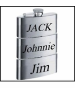 3 in 1 Triple Compartment Whiskey Flask