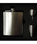 Flask Case With Metal Shot Glasses and Funnel (Flask Not Included)