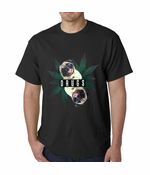 Pugs and Drugs Pot Leaf Men's T-shirt