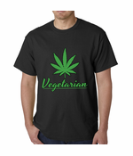 Pot Leaf Vegetarian Men's T-Shirt