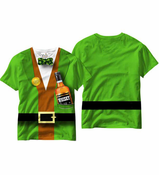 Irish Leprechaun Tuxedo All Over Sublimation Print T-shirt