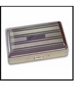 Fashion Pinstripe Cigarette Case (For Regular Size, 100's & 120's)