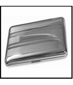 Silver Striped Cigarette Case (For Regular Size Only)