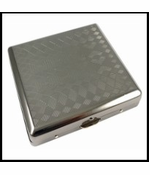 Gun Metal Patterned Cigarette Case (Assorted) (Regular Size)
