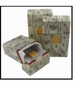100 Dollar Bill Flip Top Cigarette Strong Box (For Regular Size Only)