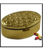 Golden Stone Finish Pill Box