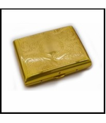 Gold Etched Cigarette Case (Regular Size)