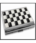 Art Deco Checker Board Cigarette Case (For Regular Size Only)