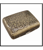 Antique Brass Paisley Cigarette Case (King Size)