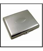 Chrome Oval Full Pack Cigarette Case (For Regular Size & 100's)