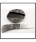 Eagle Belt Buckle With Hidden Knife And Free Belt