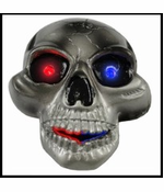 LED Light Up Skull Belt Buckle with Free Belt