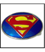Superman 3D Logo Belt Buckle With FREE Belt