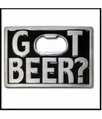 Got Beer? Bottle Opener Buckle With FREE Belt