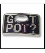 Got Pot? Bottle Opener Belt Buckle With FREE Belt