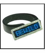 Custom LED Screen Rhinestone Belt Buckle (Blue)