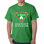 Irishman Saving The World One Drink At a Time Emoji Men's T-shirt