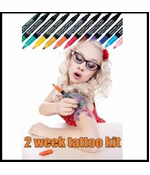18-Piece Temporary Tattoo Pen Kit (create your own tattoos)