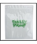 "Smelly Proof 100 Pack of Medium 6 1/2"" x 7 1/2"" Clear Bags"