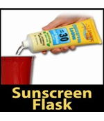 Hidden Sunscreen Alcohol Flask (Assorted)