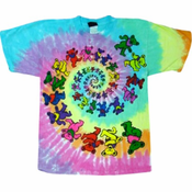 Grateful Dead Spiral Bear Tie Dye T-Shirt