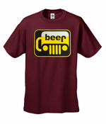 Beer-Jeep Parody Funny Men's T-Shirt
