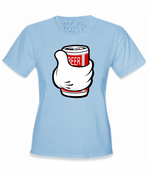 Cartoon Hand Beer Can T-Shirt