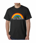 I'm So Gay I Shit Rainbows Men's T-shirt