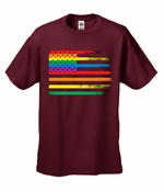 Rainbow Pride American Flag Men's T-Shirt