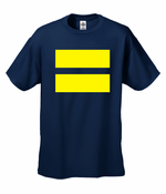 Men's Equality T-Shirt with Yellow Equal Sign