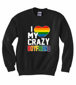 I Heart My Crazy Boyfriend Crewneck Sweatshirt