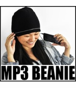 iHat - Solid Black MP3 Beanie Hat With Built In Headphones