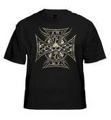 Biker T-Shirts - Tribal Chopper Chain Biker Shirt