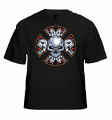 Biker T-Shirts - Demon Iron Cross Biker Shirt
