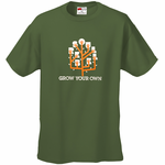 Soul Rebel Grow Your Own Men's T-Shirt Olive Green