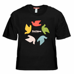 Soul Rebel Dove Wheel T-Shirt (Black)