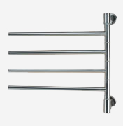 "Amba Swivel Model Jack D004 towel warmer with 4 cross bars is 21"" X 21"", Amba Swivel J-D004-P, Amba Swivel J-D004-B"