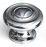 "1 1/2"" Polished Chrome Traditional Knobs by Schaub, Schaub 704-26"