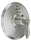 California Faucet TO-TH1L-55 Coronado Series 55 Thermostatic Round Styletherm 1 Function Shower Trim